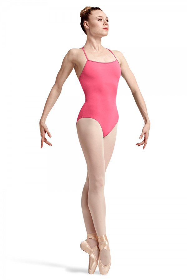image - Idan Spliced Racer Back Camisole Leotard Women's Dance Leotards