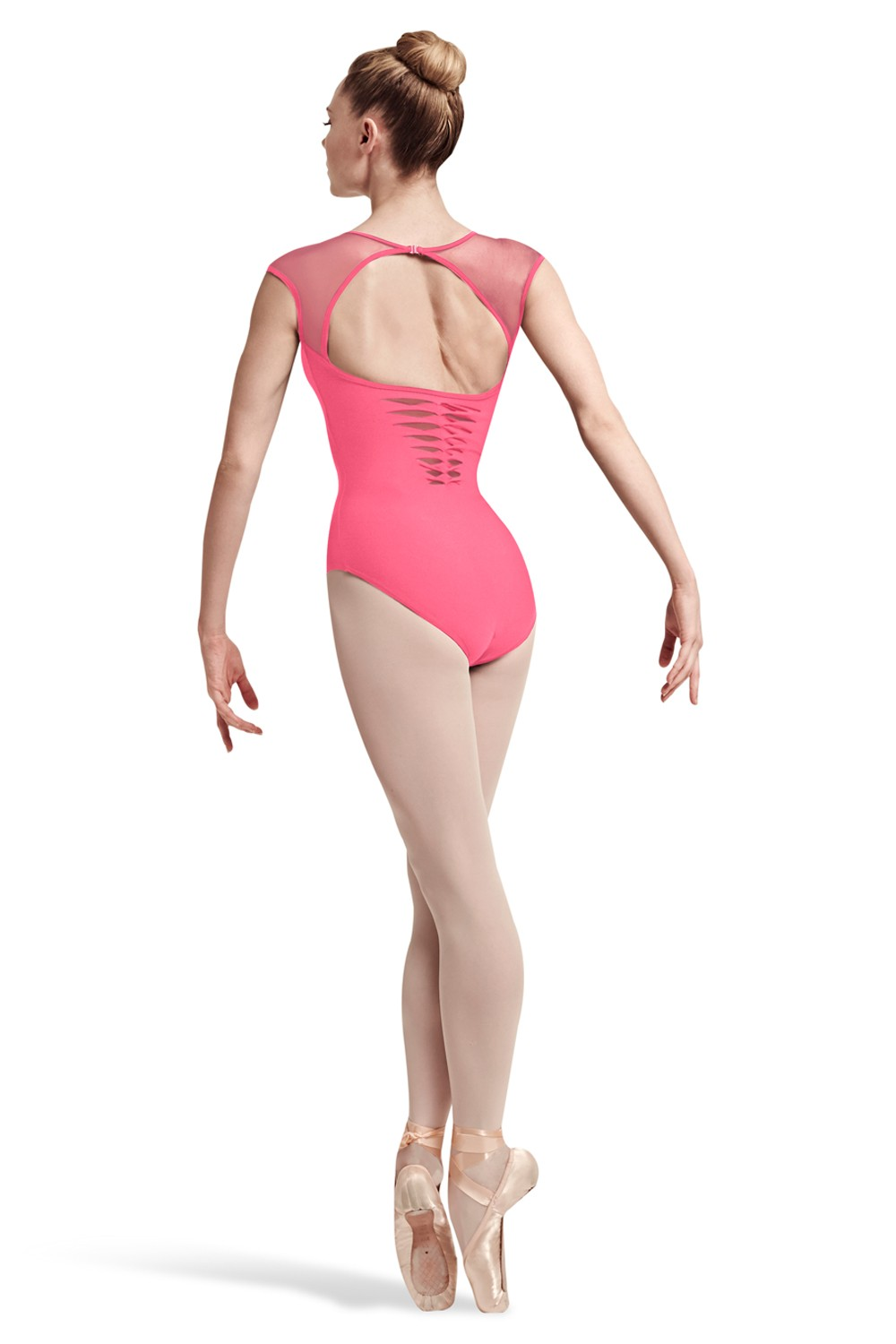 Noya Spliced Twist Lower Back Cap Sleeve Leotard Women's Dance Leotards