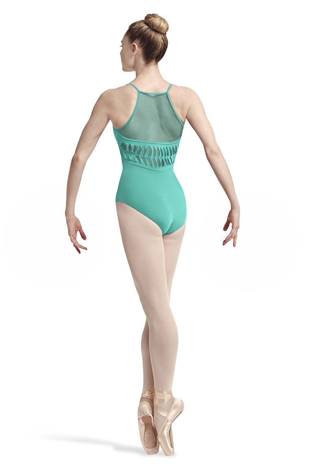 Spliced Twist Back Leotard Women's Dance Leotards