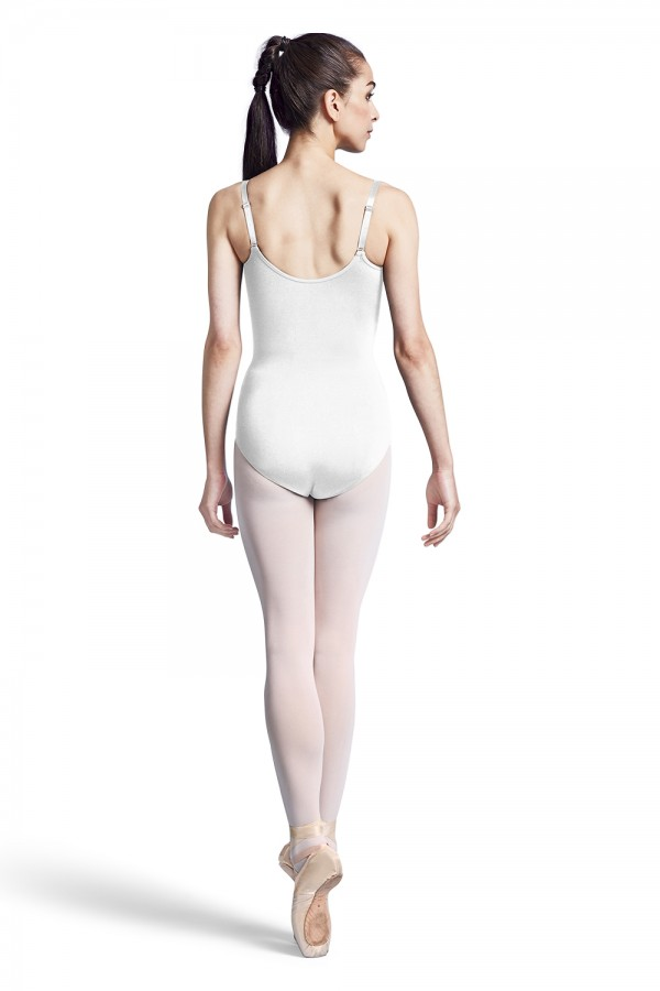image - NYLON ADJ STRAP LEOTARD WITH BRA Women's Dance Leotards