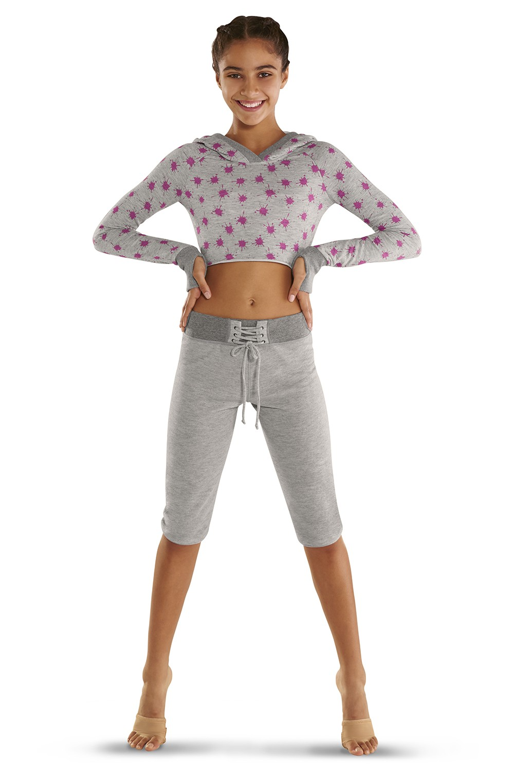 Lace Up 3/4 Length Sweat Pants Children's Bottoms