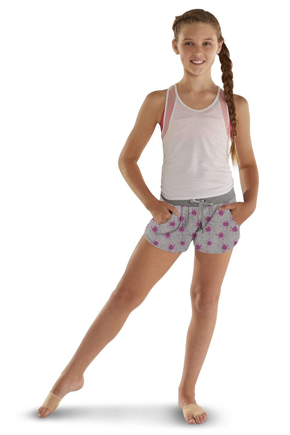 Printed Sweat Short Children's Bottoms