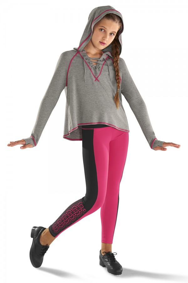 image - Lace Up Front Hoodie Children's Tops