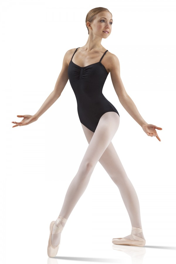 image - Gathered Front Camisole Leotard Women's Dance Leotards