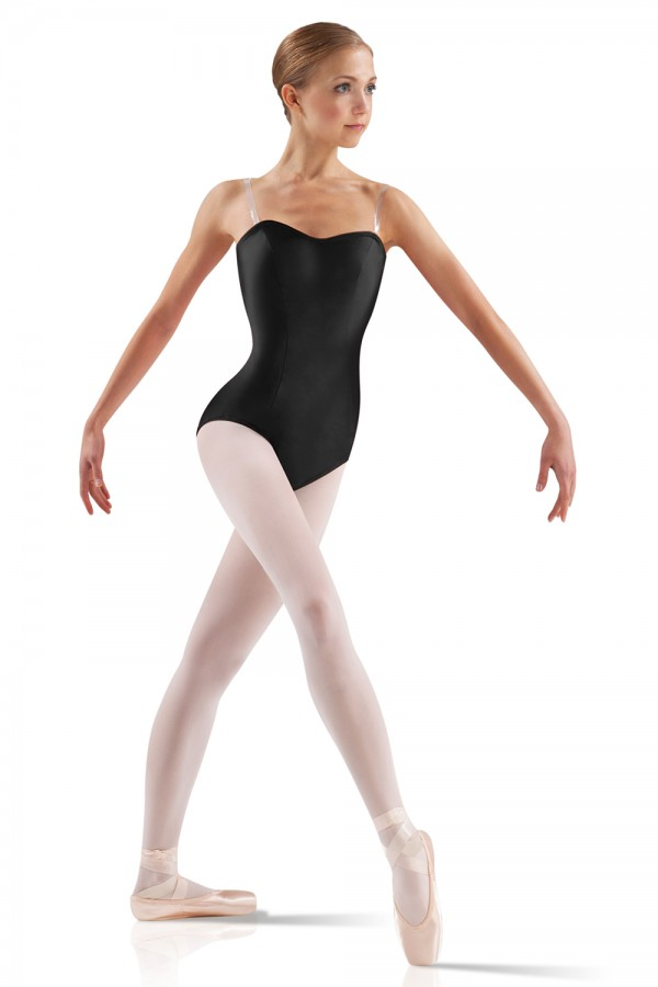 image - Satin Basic Leotard Women's Dance Leotards