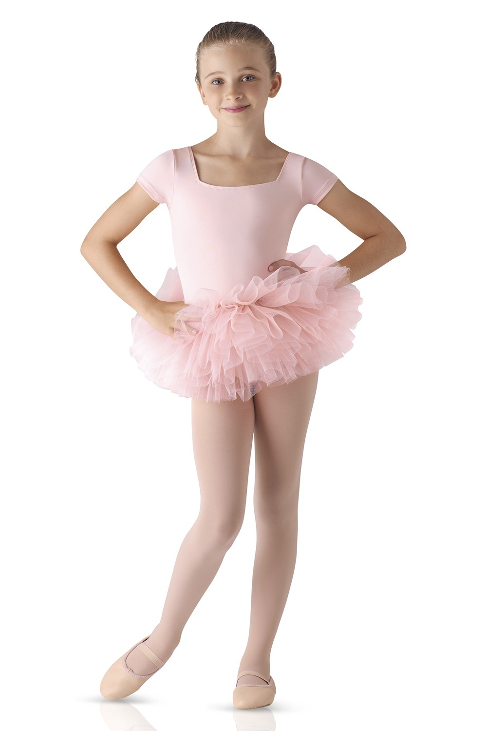 Short Sleeve Tutu Leotard Children's Dance Leotards