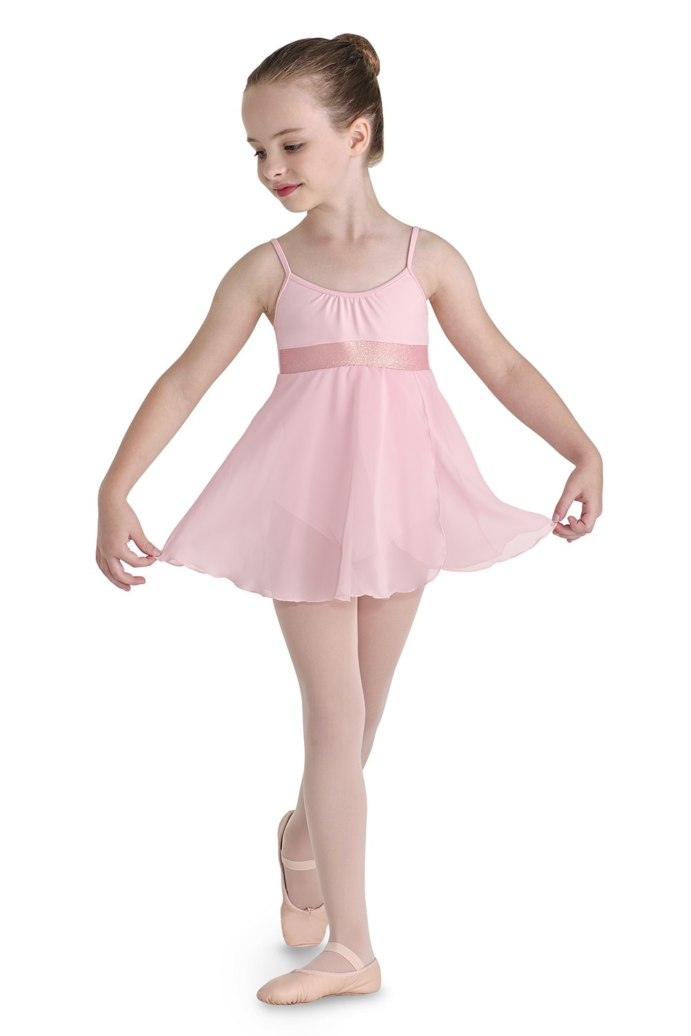 Glitterdust Dress Cami Leo Children's Dance Leotards