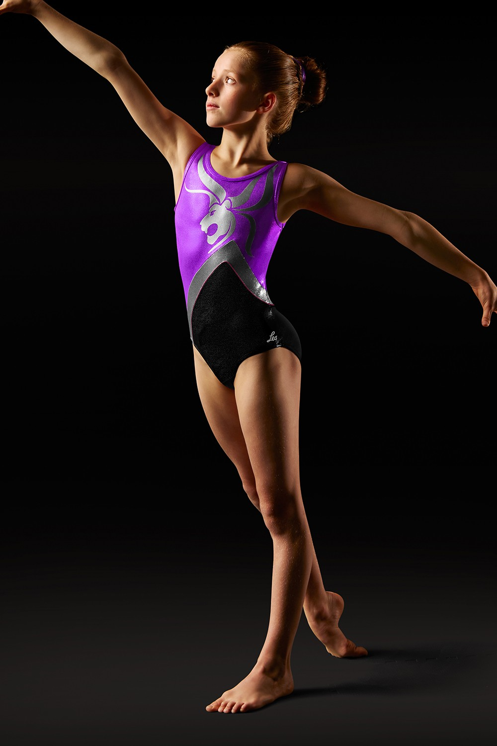 Body De Alças Grossas Com Motivo De Leão - Leo Women's Gymnastics Leotards
