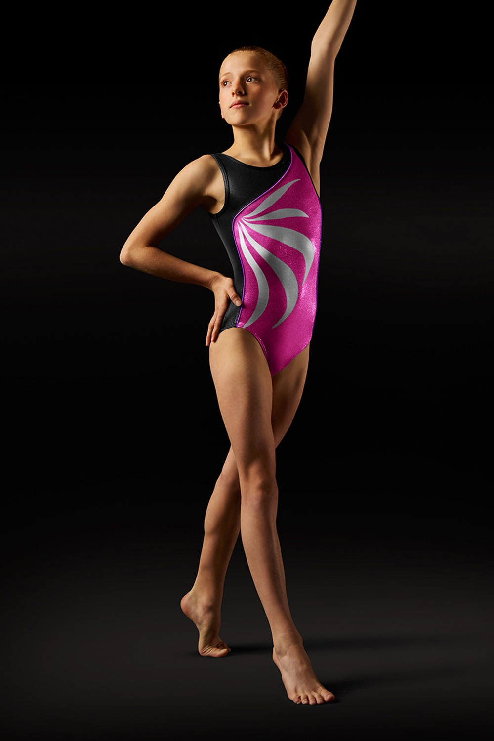 Body Con Spalline Larghe E Motivo A Fiamma Women's Gymnastics Leotards