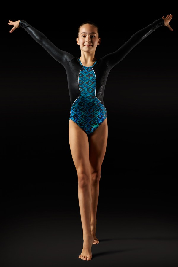 image - Aztec Print Leotard - Girls Girl's Gymnastics Leotards