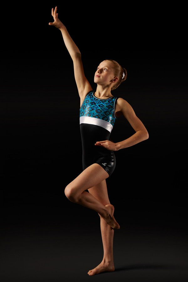 image - Aztec Print Unitard - Girls Girl's Gymnastics Unitards