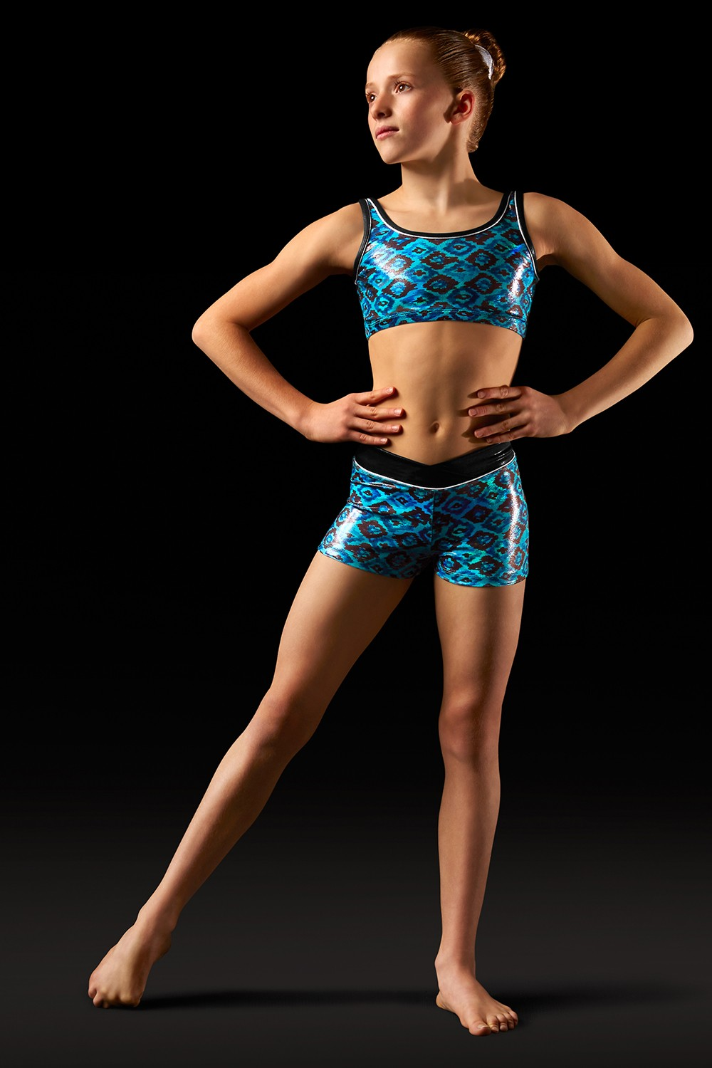 Short Aztec Ceinture En V Girls's Gymnastics Shorts