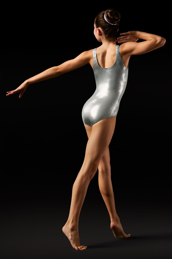 image - Foil Tank Leotard - Girls Girl's Gymnastics Leotards