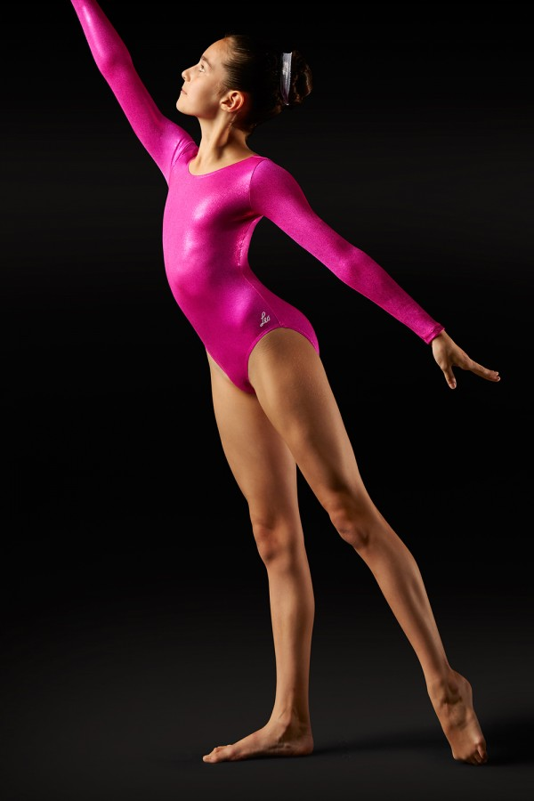 image - Foil Long Sleeve Leotard   Women's Gymnastics Leotards