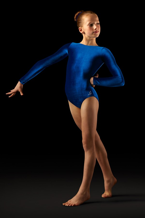 image - Velvet Long Sleeve Leotard   Women's Gymnastics Leotards
