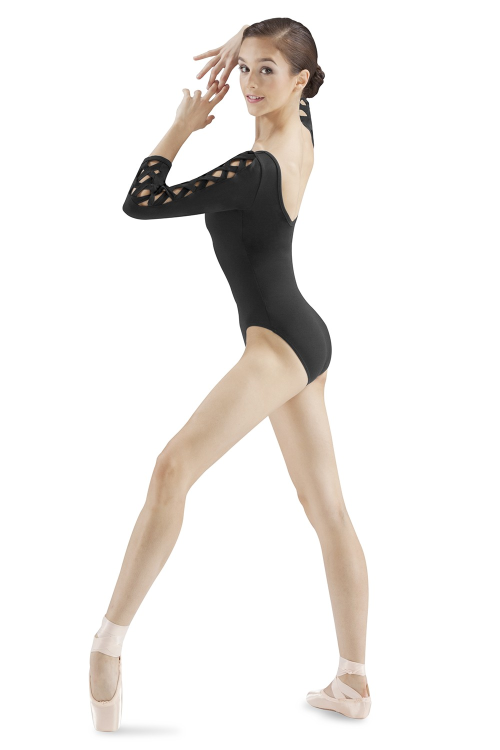 Lattice 3/4 Sleeve Leo Women's Dance Leotards