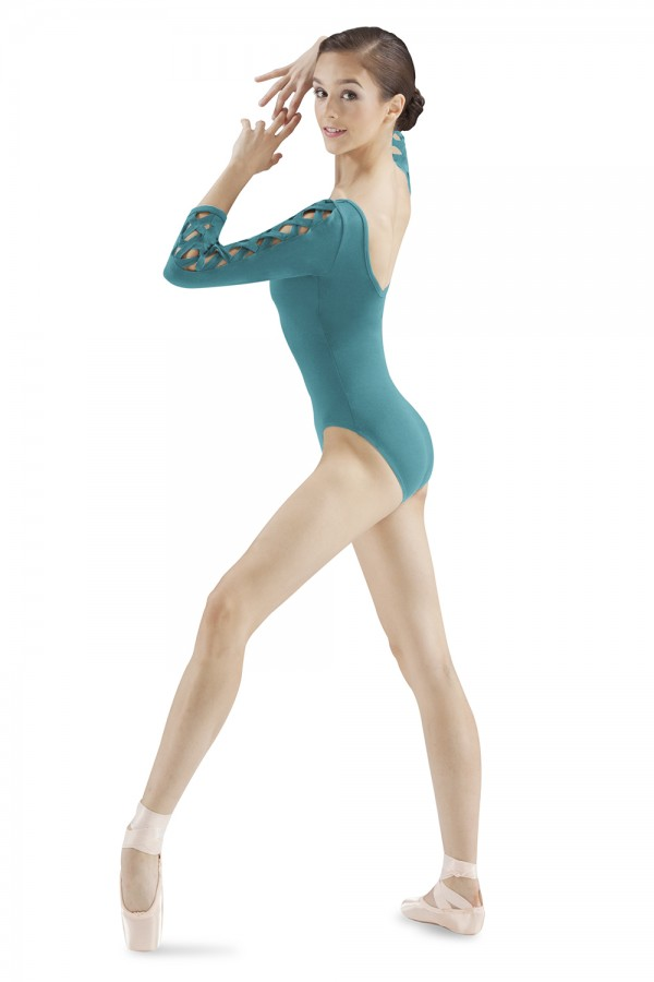 image - LATTICE 3/4 SLEEVE LEO Women's Dance Leotards