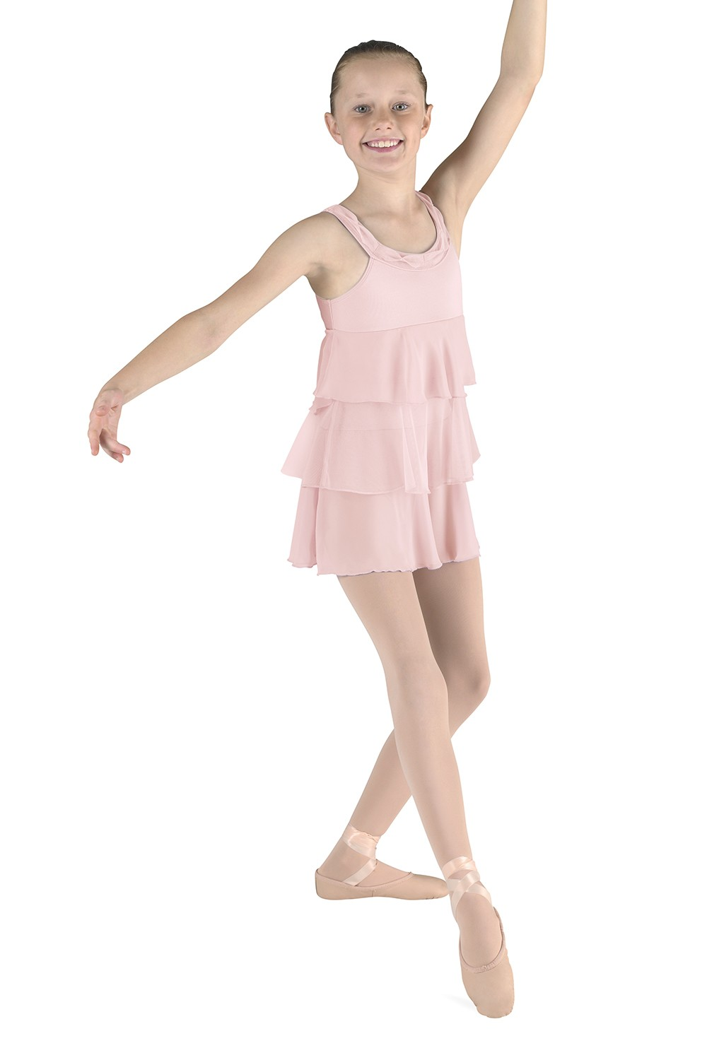 Body De Alças Grossas Com Saia Children's Dance Leotards