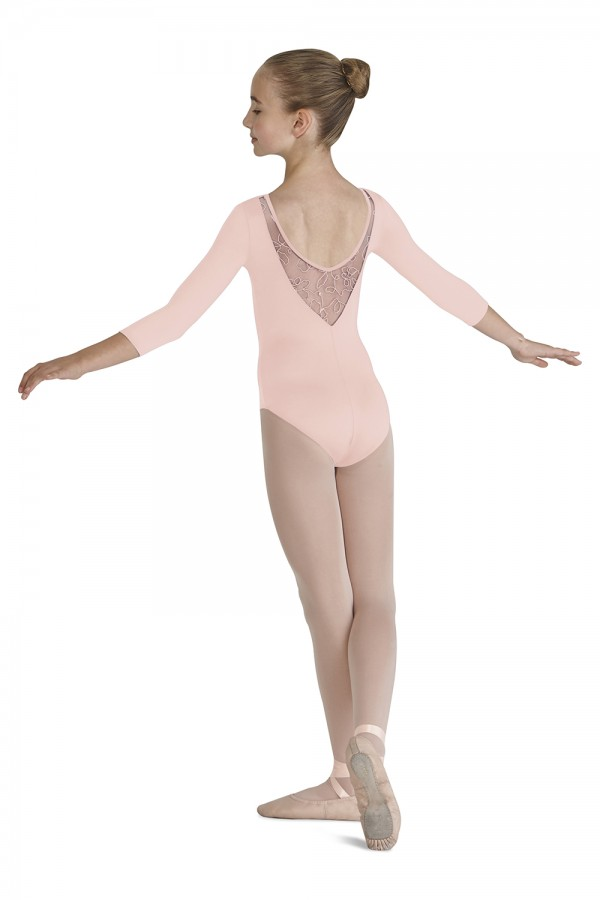 image - Yoked 3/4 Sleeve Leotard Children's Dance Leotards