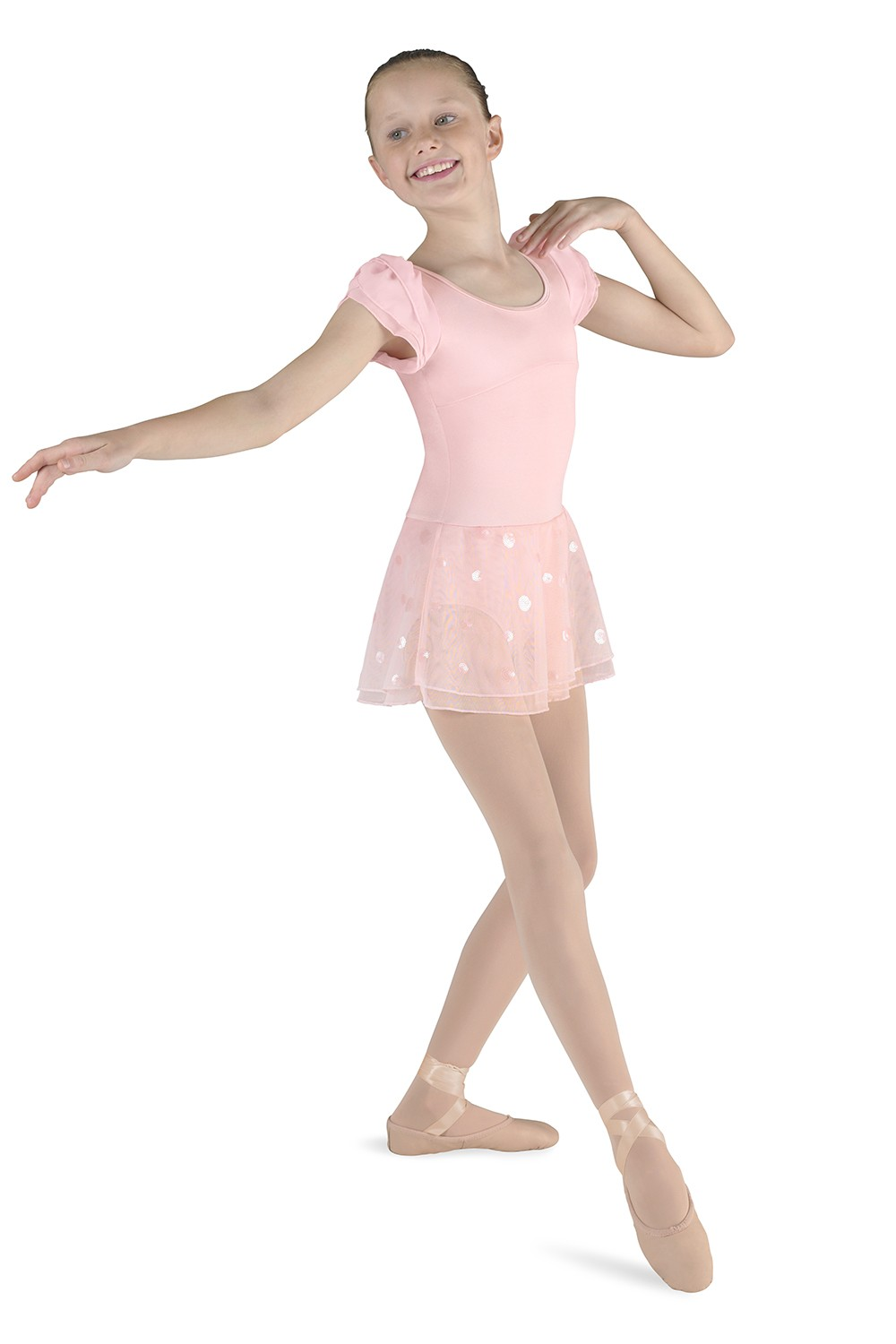 Skirted Puff Slv Leo Children's Dance Leotards