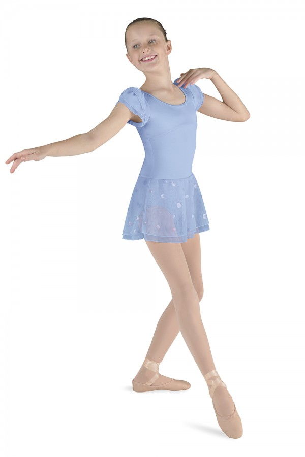 image - Skirted Puff Sleeve Leotard Children's Dance Leotards