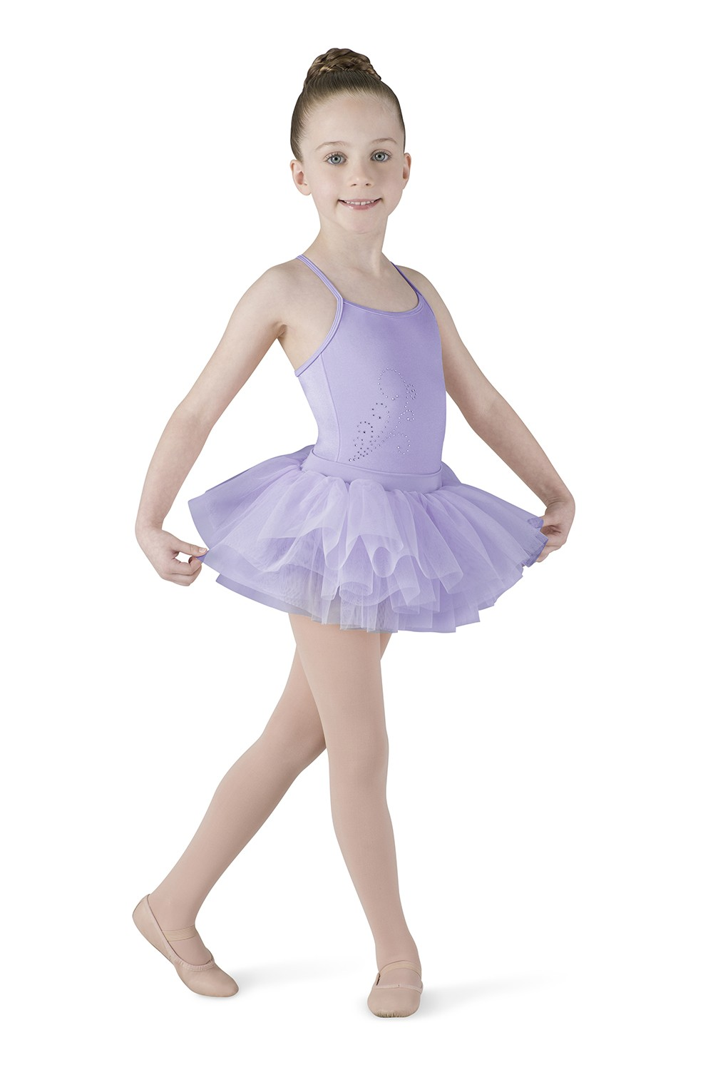 Diamante Tutu Dress Children's Dance Leotards