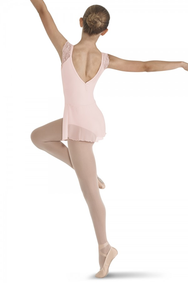 image - Lace Shoulder Skirted Leotard Children's Dance Leotards