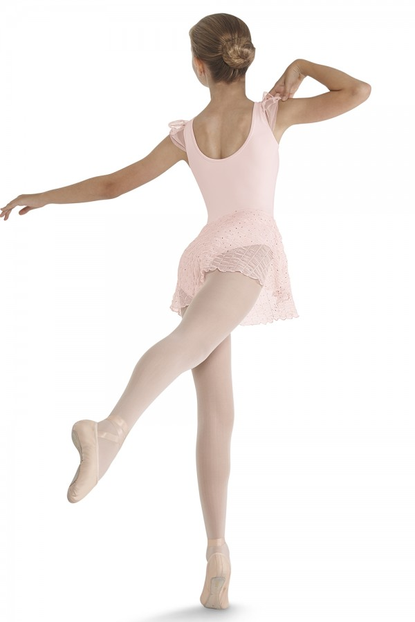 image - CRINKLE MESH SKIRTED Children's Dance Leotards