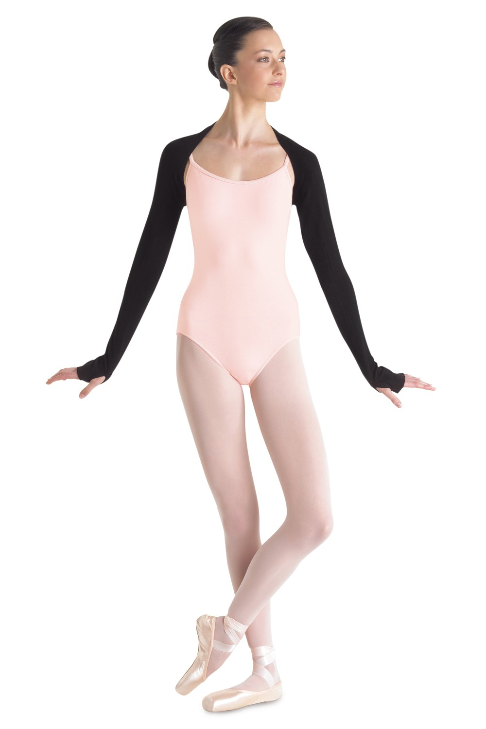 Long Sleeve Shrug W/thumbholes Women's Dance Warmups