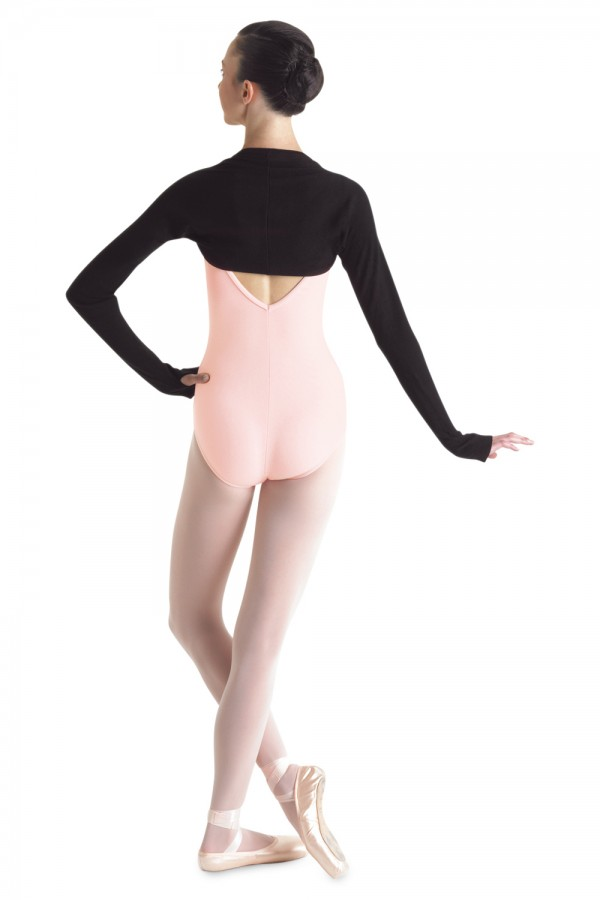 image - LONG SLEEVE SHRUG W/THUMBHOLES Women's Dance Warmups