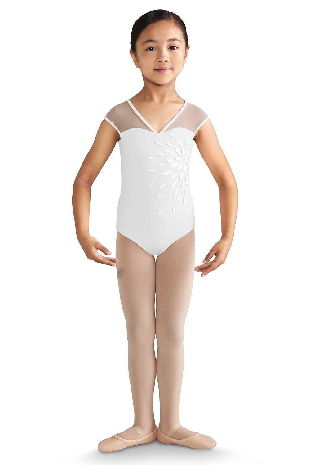 Bow Back Cap Sleeve Leotard Girls Short Sleeve Leotards
