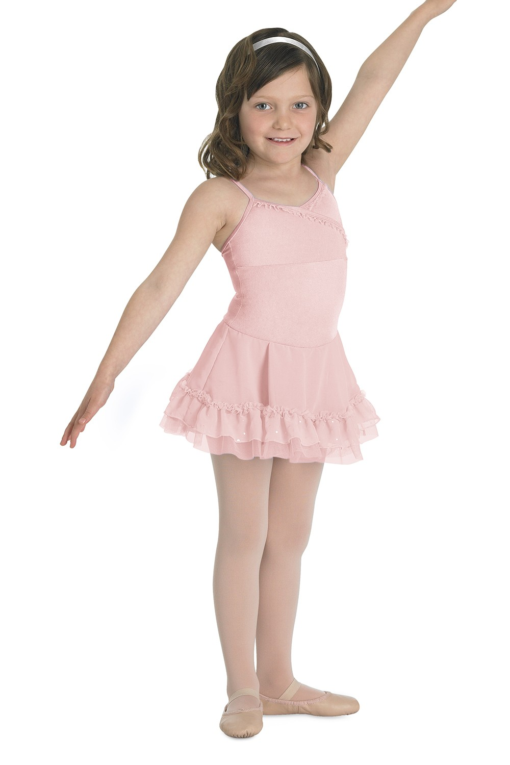 Cami Dress Leo With Frills Children's Dance Leotards