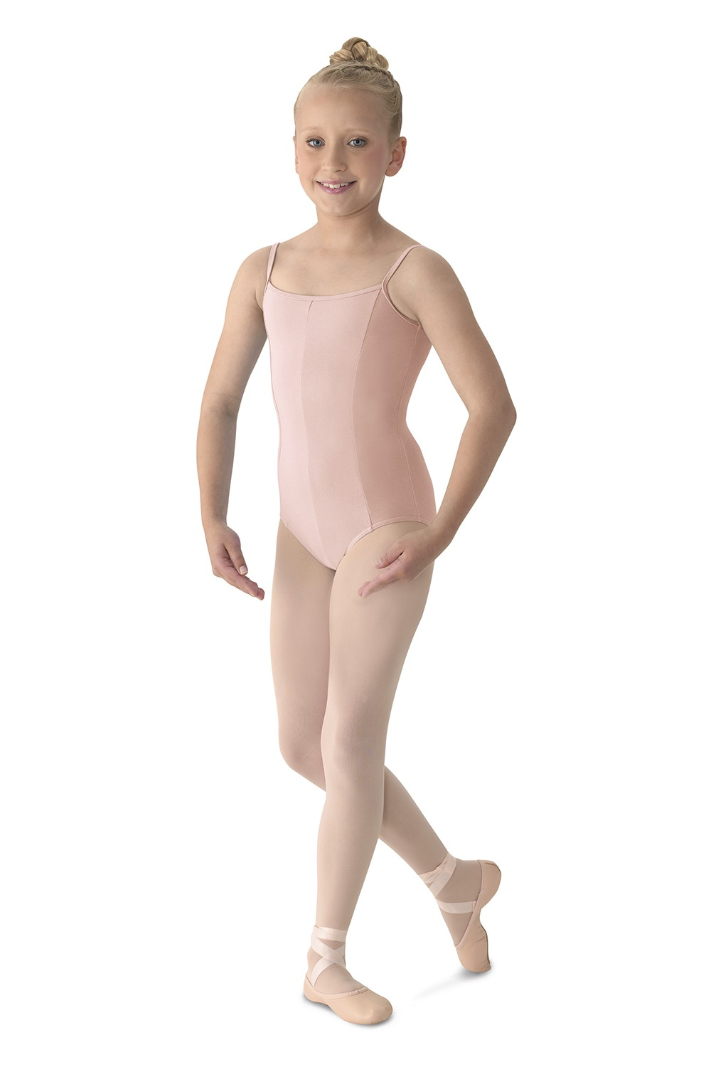 Justaucorps Princesse À Bretelles Fines - Col V Avec Coutures Children's Dance Leotards