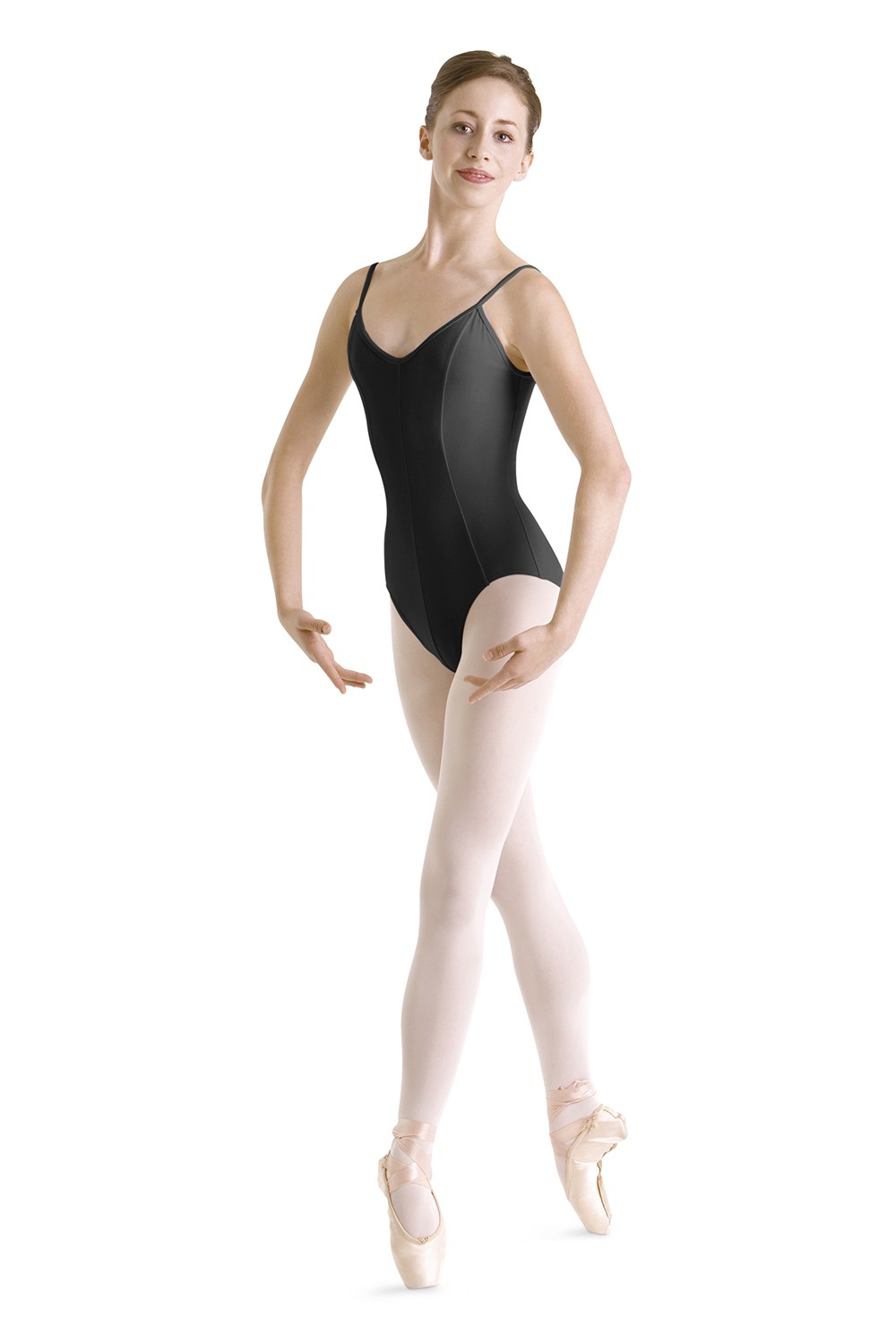 Camisola Con Escote En V Y Costuras Princesa Women's Dance Leotards