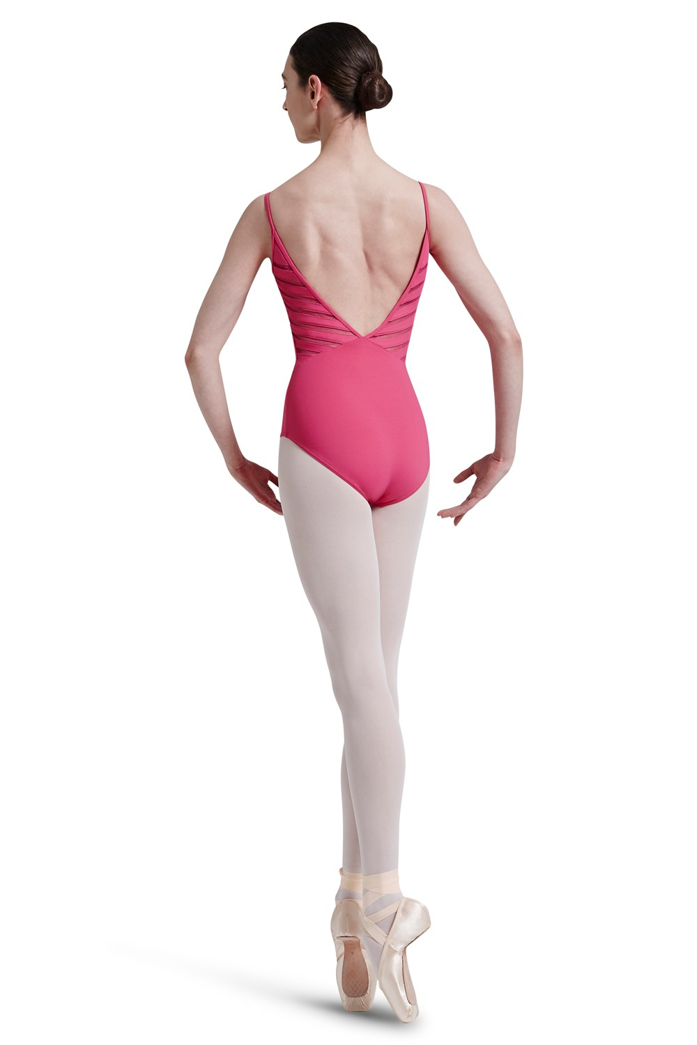Mirella Lattice Elastic Trim Back Vee Panel Camiso Women's Dance Leotards