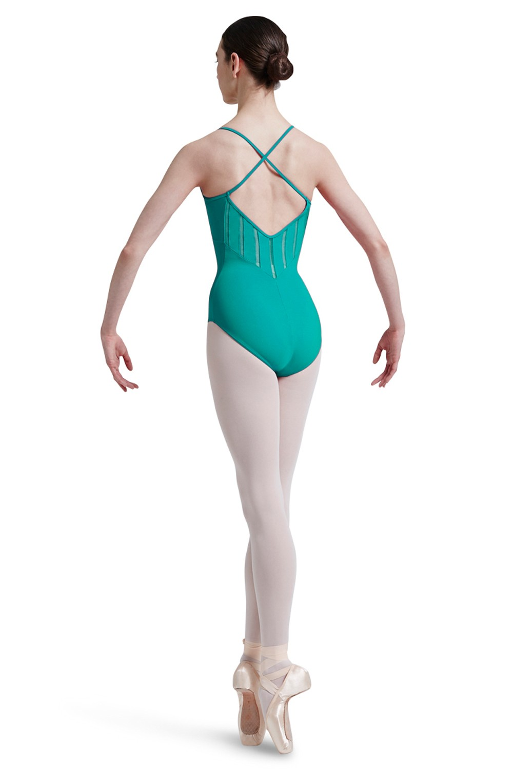 Mirella Lattice Elastic Trim Shaped Front And Back Women's Dance Leotards