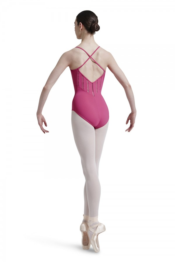 image - Mirella Lattice Elastic Trim Shaped Front And Back Women's Dance Leotards