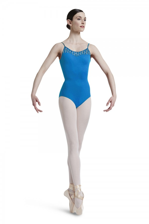 image - Back Panel Camisole Leotard Women's Dance Leotards