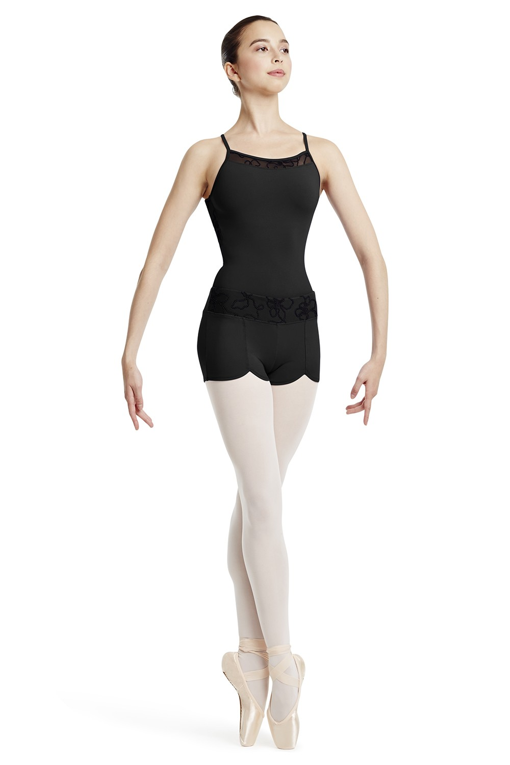 Cord Yoke Back Cami Leo Women's Dance Leotards