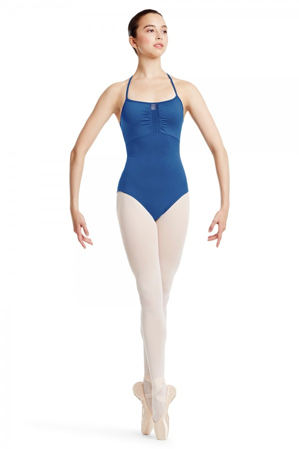 image - Lace Trim Camisole Leotard Women's Dance Leotards
