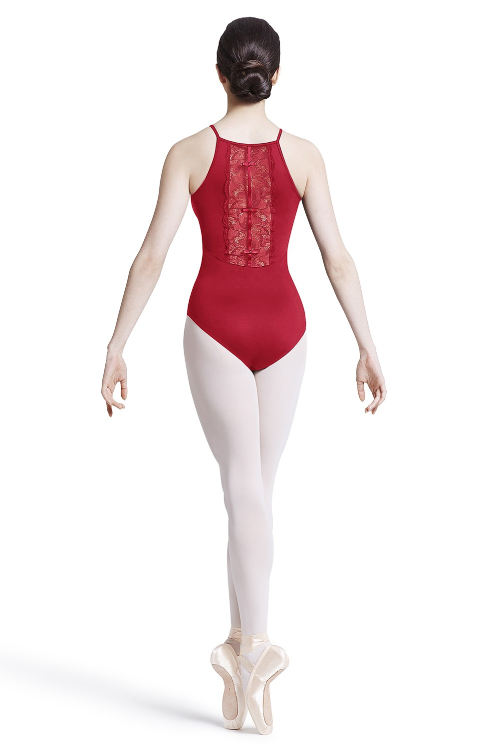 High Lace Back Panel Leotard Womens Camisole Leotards