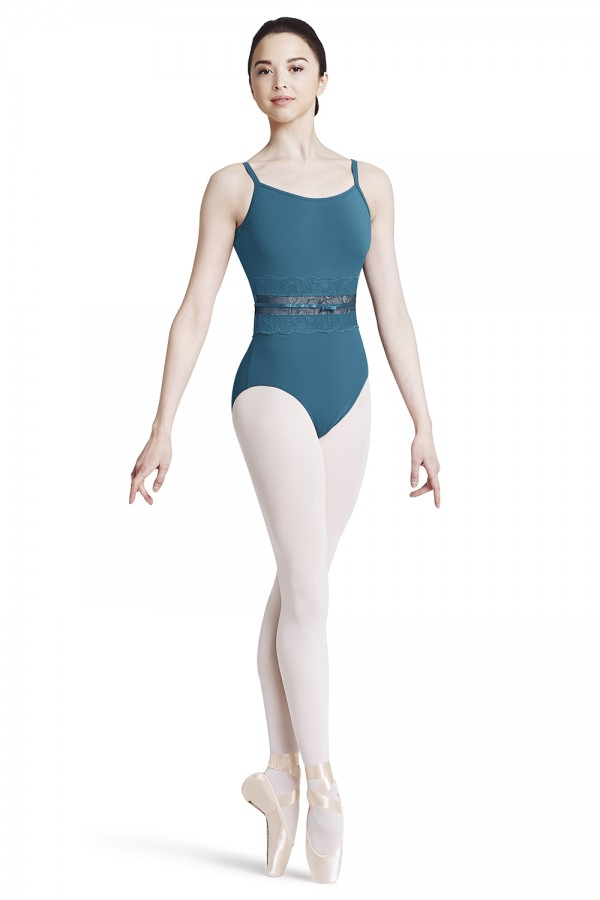 image - Lace waist camisole leotard Women's Dance Leotards