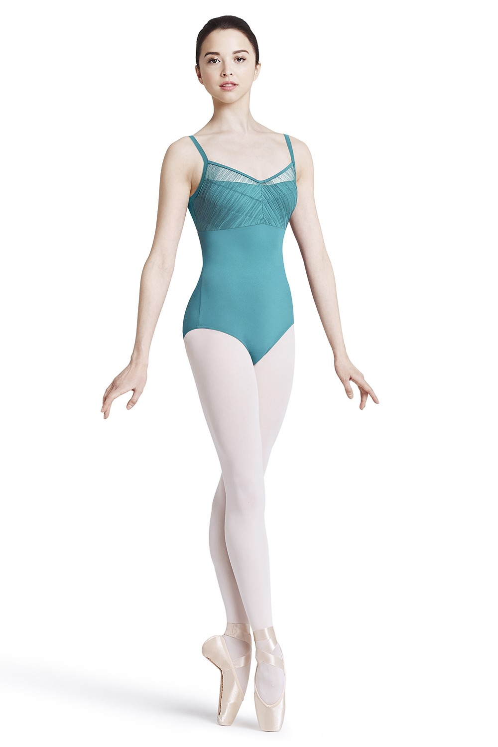 Crinkle Mesh Bust Children's Dance Leotards