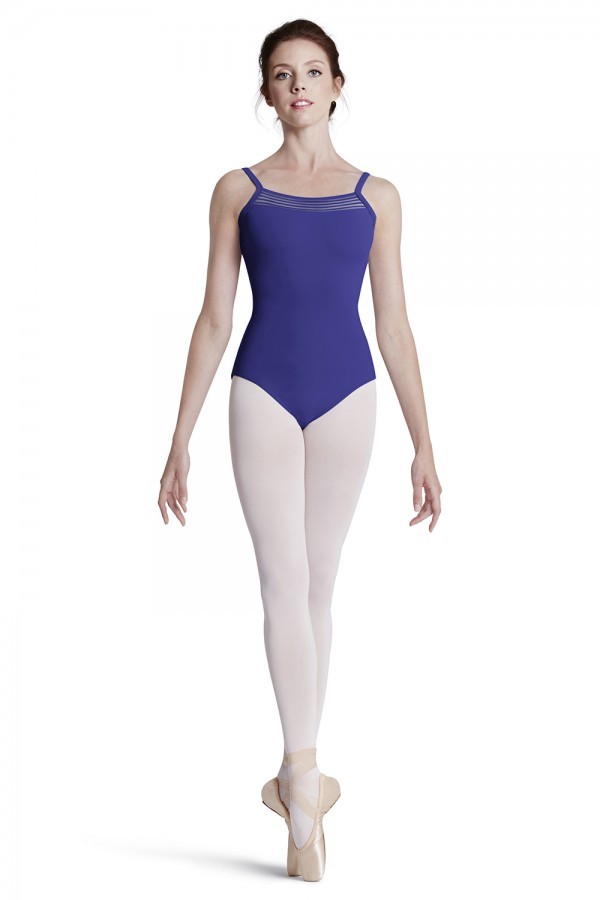 image - Lace Trim Cami Leo Women's Dance Leotards