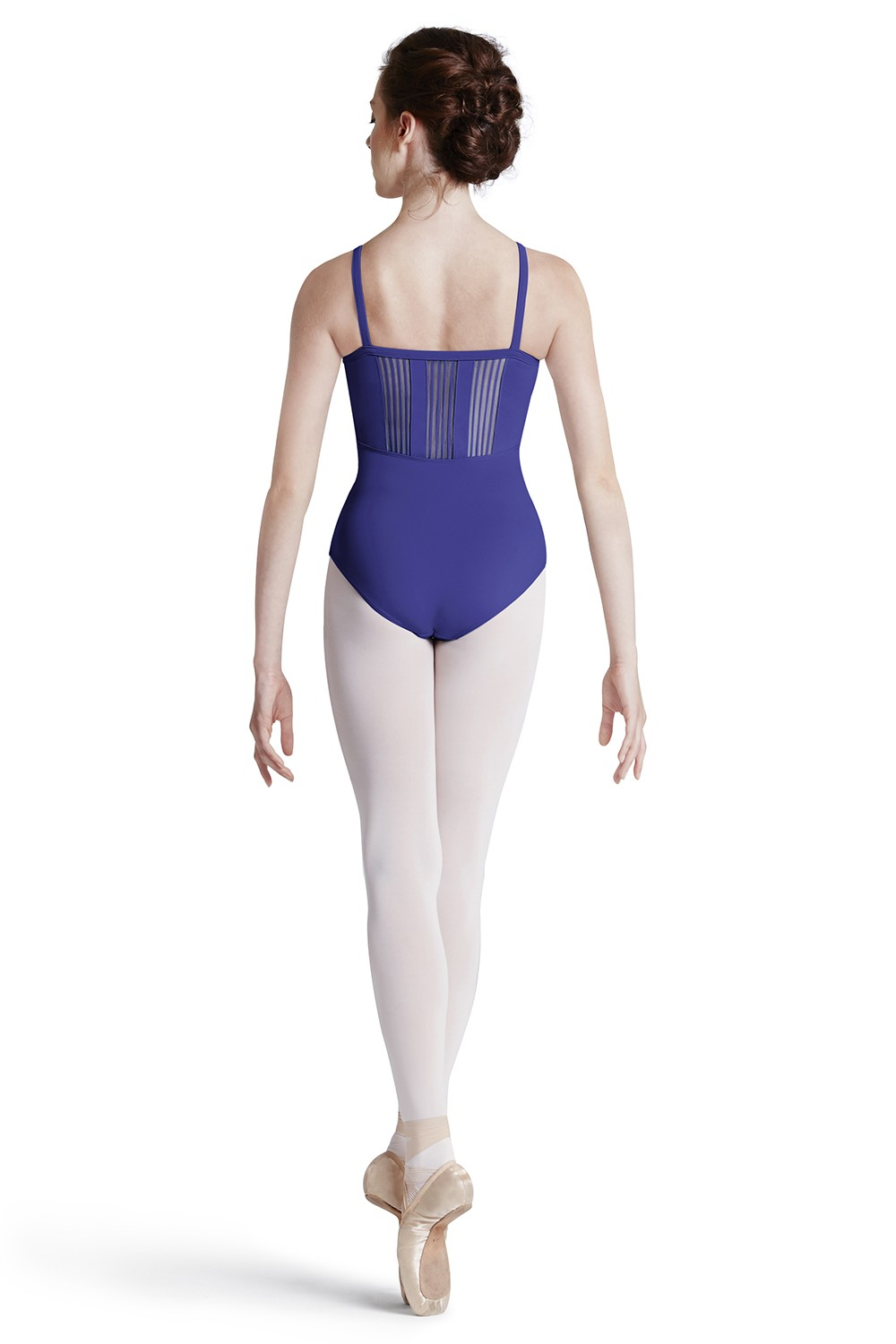 Stripe Lace Trim Leo Women's Dance Leotards