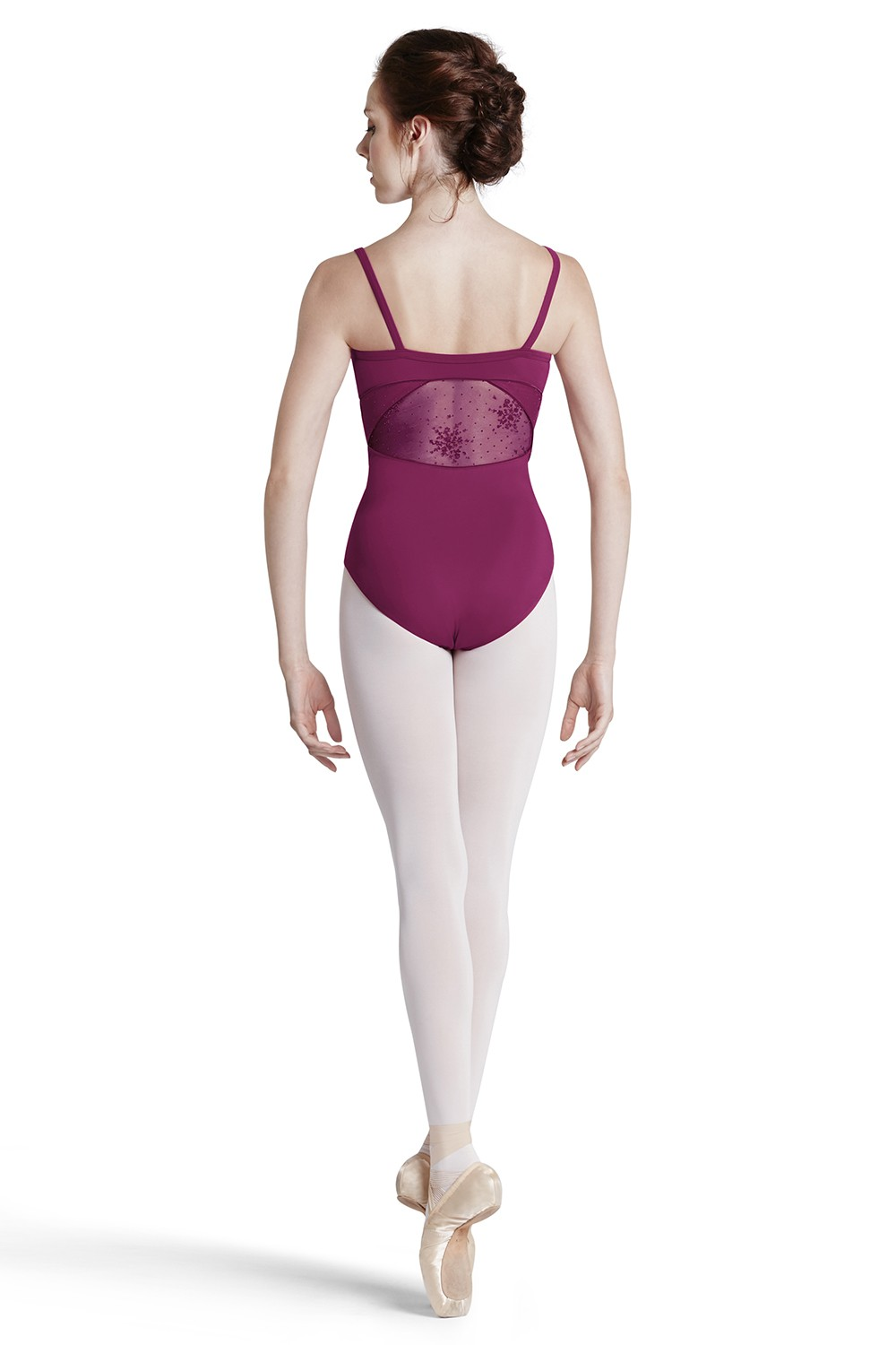 Body A Spalline Sottili Con Motivi Floreali Floccati Women's Dance Leotards