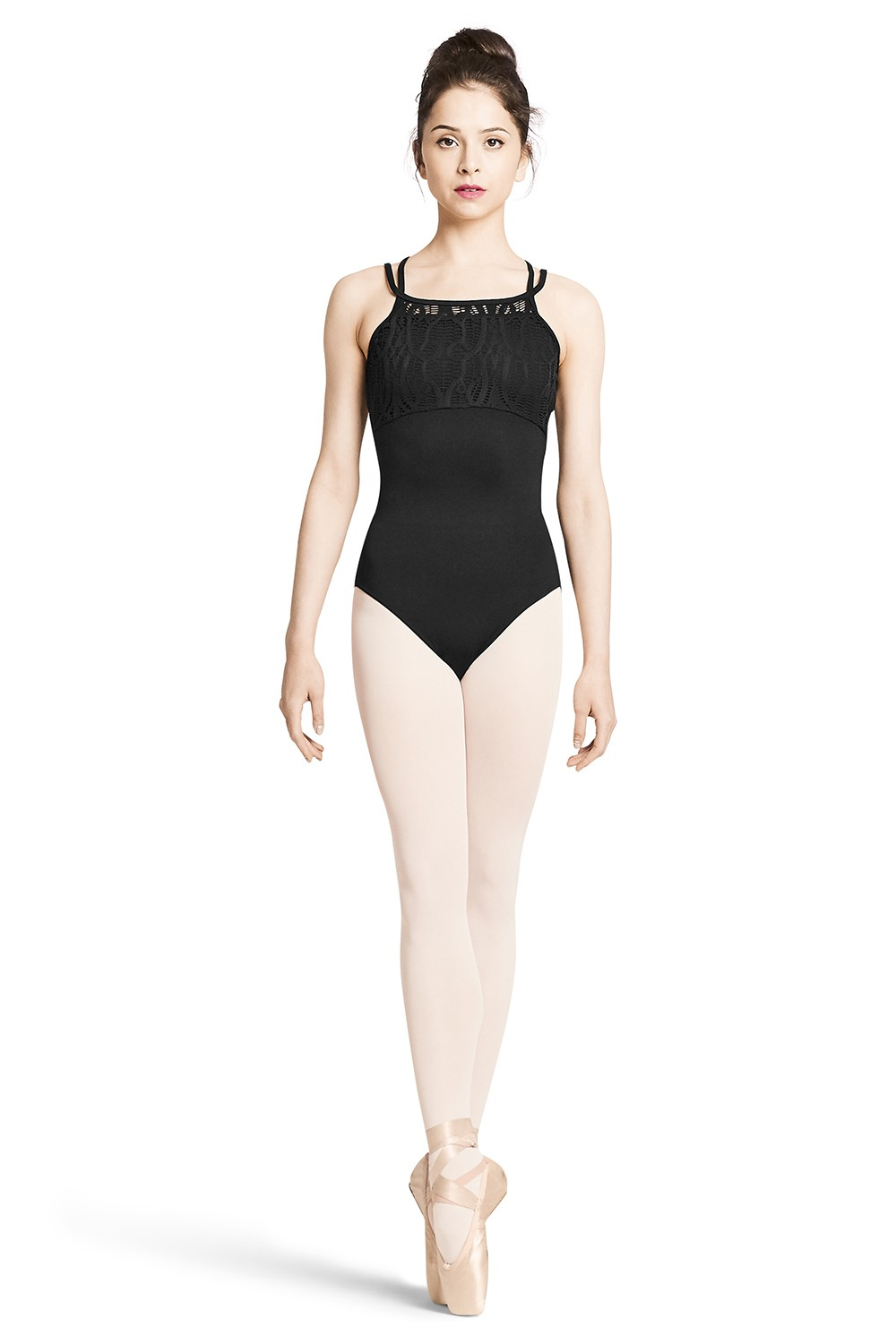 Body Con Spalline Sottili E Design Con Fascette Sul Retro Women's Dance Leotards