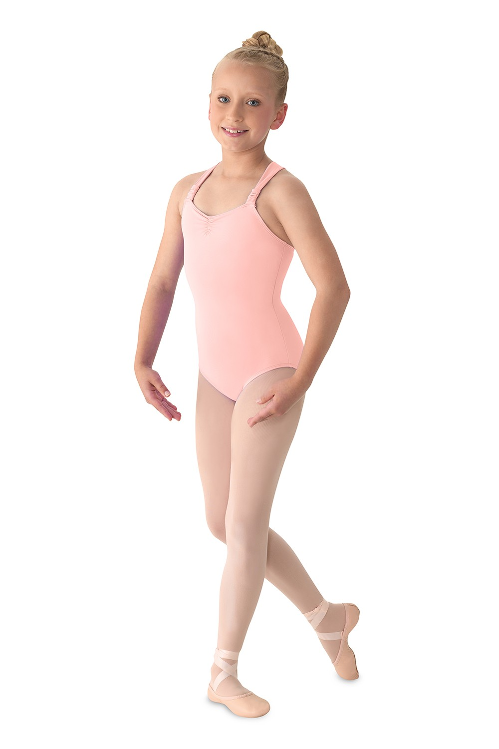 Rouched Strap Leotard Girls Tank Leotards