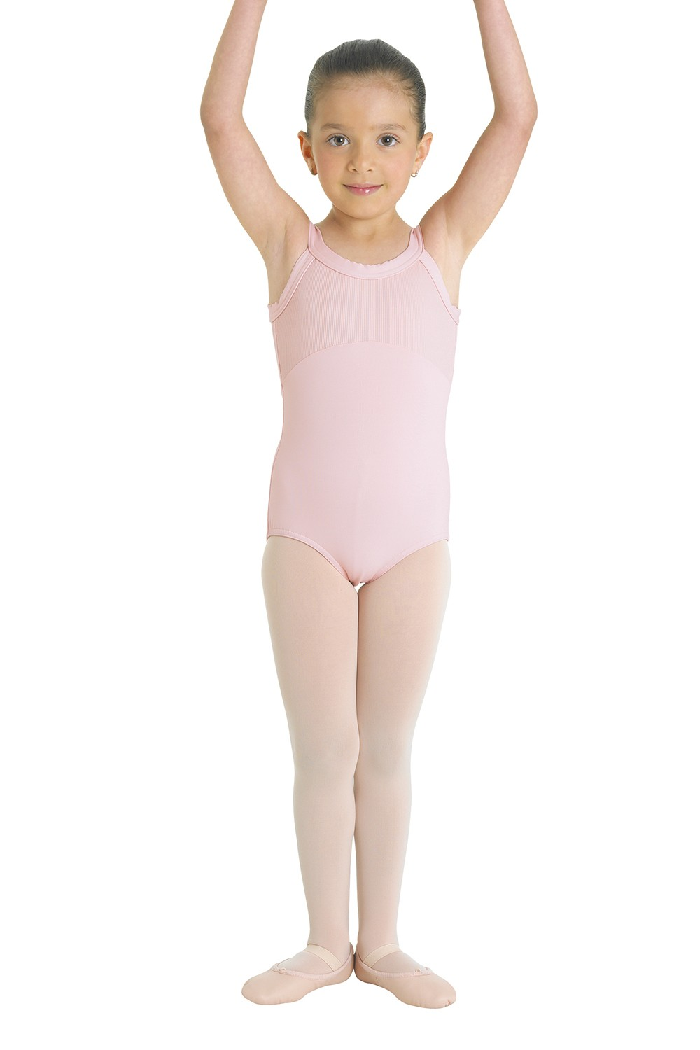 Ribbed Bodice Round Neck Leotard Children's Dance Leotards