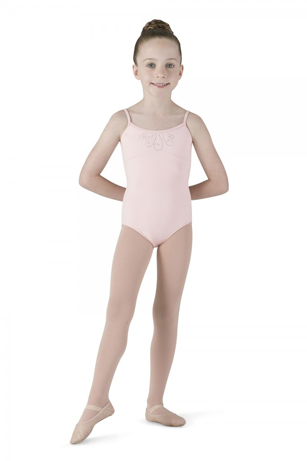 image - Diamante Swirl Camisole Children's Dance Leotards